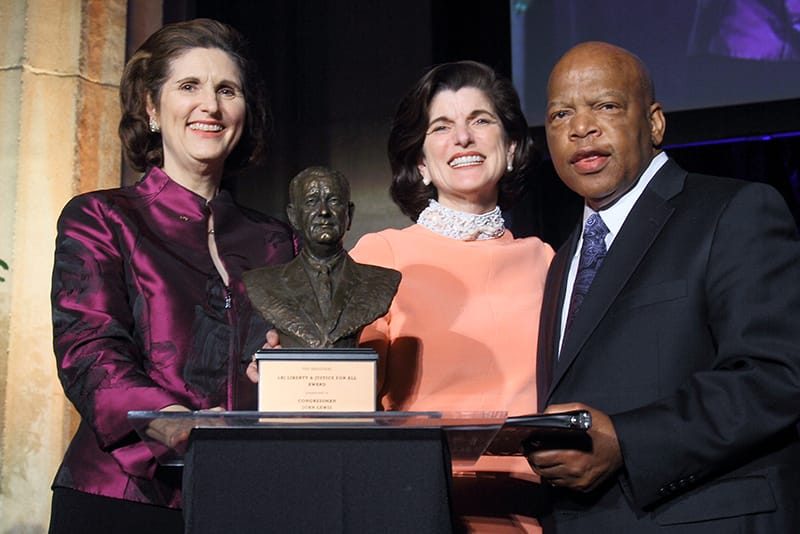 John Lewis receives the first LBJ Liberty and Justice for All Award