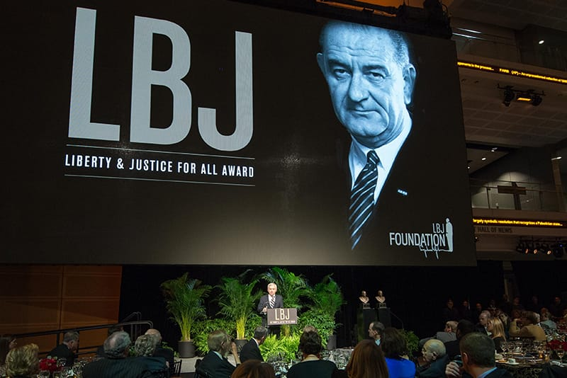 John Dingell and Carl Levin receive the LBJ Liberty and Justice for All Award